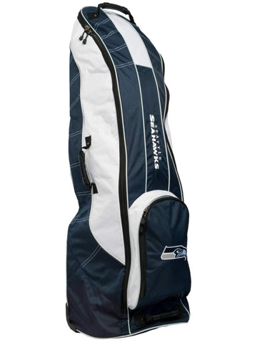 Seattle Seahawks Team Golf Navy Golf Clubs Wheeled Luggage Travel Bag