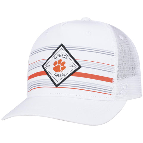 "Clemson Tigers TOW White ""36th Ave"" Mesh Adj. Snapback Hat Cap"
