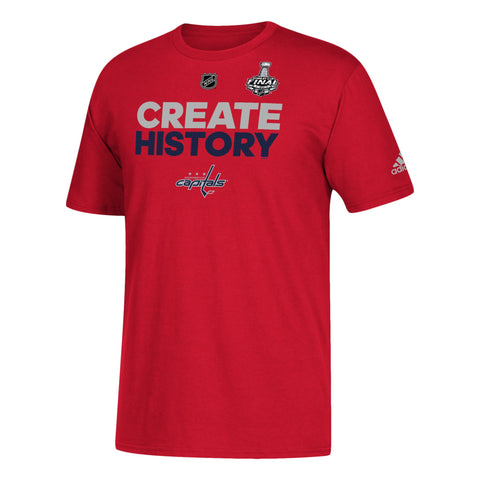 "Washington Capitals 2018 Stanley Cup Final ""Create History"" Red T-Shirt"