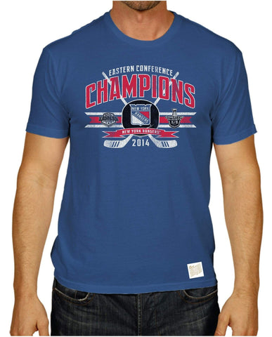 Shop New York Rangers 2014 Eastern Conference Champions Retro Brand Blue T-Shirt