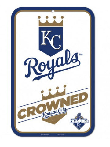 Shop Kansas City Royals 2015 World Series Champions Crowned Plastic Street Sign