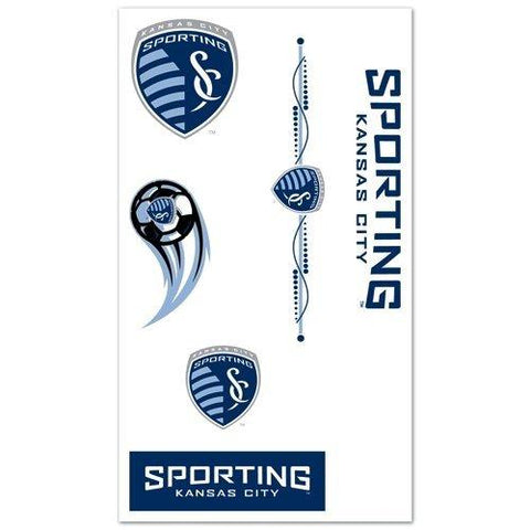 Shop Sporting KC Kansas City MLS WinCraft Sports 7 Temporary Tattoos