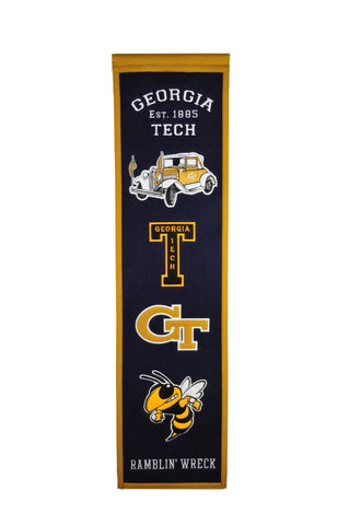 "Georgia Tech Yellow Jackets Winning Streak Past Mascots Heritage Banner (8""x32"")"