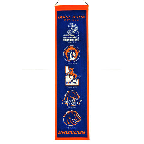 "Shop Boise State Broncos Winning Streak Past Mascots Wool Heritage Banner (8""x32"")"