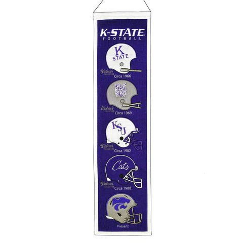 "Shop Kansas State Wildcats Winning Streak Football Helmets Fan Fave Banner (8""x32"") - Sporting Up"