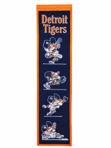 "Shop Detroit Tigers Winning Streak Swingin' Kitty Wool Fan Fave Banner (8""x32"")"