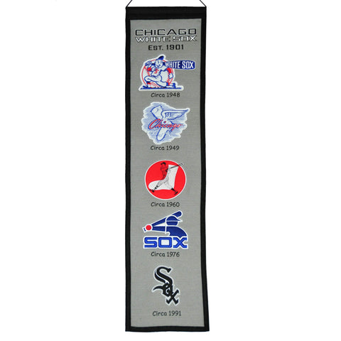 "Shop Chicago White Sox Winning Streak Past Mascots Wool Fan Fave Banner (8""x32"")"