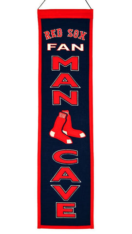 "Shop Boston Red Sox Winning Streak Man Cave Vertical Wool Banner (8""x32"")"