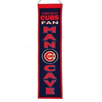 "Chicago Cubs Winning Streak Man Cave Wool Banner (8""x32"")"