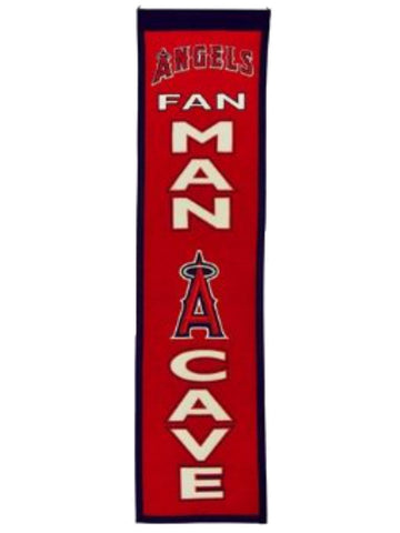 "Los Angeles Angels Anaheim Winning Streak Man Cave Vertical Wool Banner (8""x32"") - Sporting Up"