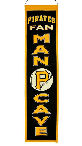 "Pittsburgh Pirates Winning Streak Man Cave Wool Banner (8""x32"")"
