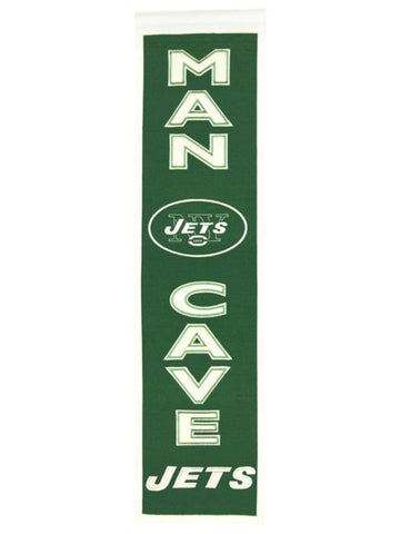 "New York Jets Winning Streak Man Cave Wool Banner (8""x32"")"