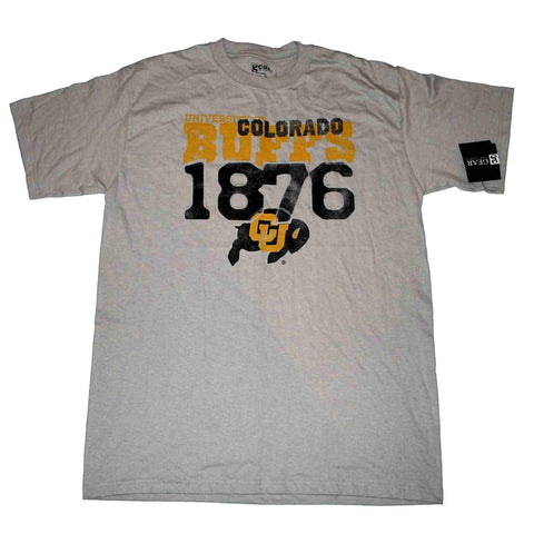 Colorado Buffaloes 1876 Gear for Sports Gray T-Shirt (L)