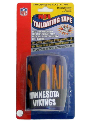 Minnesota Vikings NFL Caution Tailgating Tape (50ft)