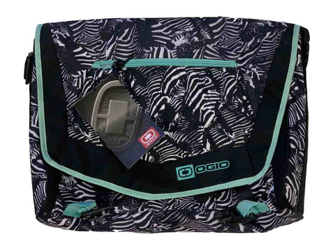 Shop Ogio Vamp S Serengeti Black & White with Teal Accents Travel Tablet & Laptop Bag - Sporting Up