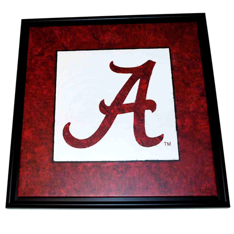 "Shop Alabama Crimson Tide Football Classic Logo Framed Canvas Picture 26.5"" X 26.5"""