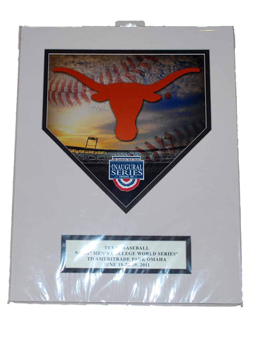 "Shop Texas Longhorns Ready to Frame 2011 CWS ""Die Cut Homeplate"" Picture 11"" X 14"""