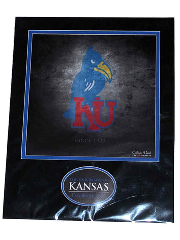 Shop Kansas Jayhawks Ready to Frame Black Suede w/ Oval Nameplate 1920 Print 11 X 14 - Sporting Up