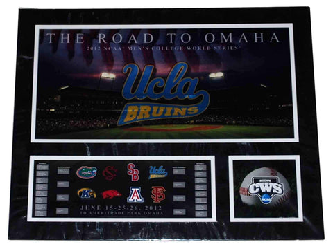 Shop UCLA Bruins RTF The Road to Omaha 2012 College World Series Suede Print 16 X 20