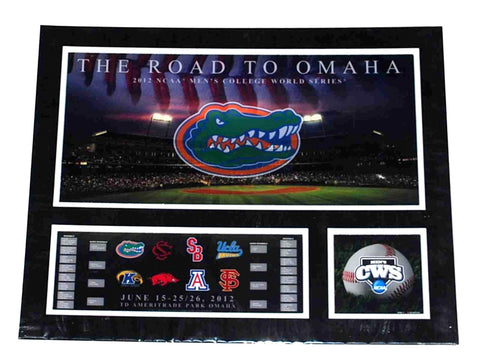 Shop Florida Gators RTF The Road to Omaha 2012 College World Series Suede Print 16X20 - Sporting Up