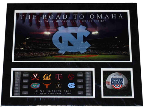 North Carolina Tar Heels The Road to Omaha 2011 College World Series Print 16X20 - Sporting Up