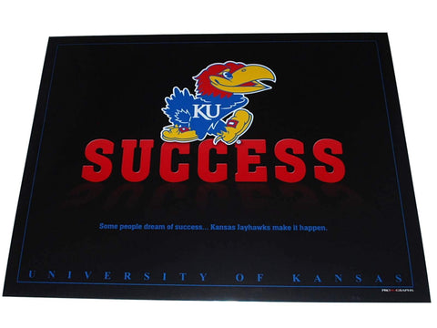 "Shop Kansas Jayhawks ""Inspirations U: Success"" Black Print 16"" X 20"""