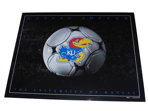 "Shop Kansas Jayhawks Men's Soccer Studio Black Print 16"" X 20"" - Sporting Up"
