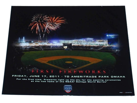 "Shop College World Series Omaha First Fireworks TD Ameritrade Park Print 16""x20"""