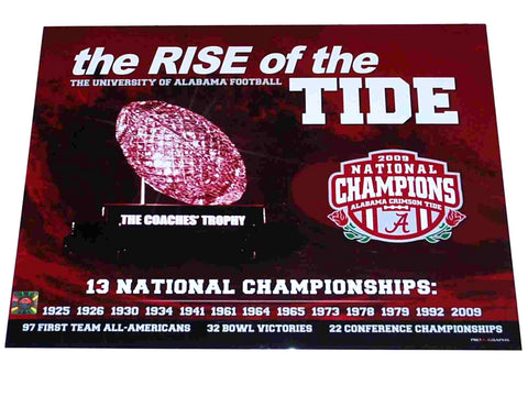 Shop Alabama Crimson Tide 2009 Season The Rise of the Tide Ready to Frame Print 16X20 - Sporting Up