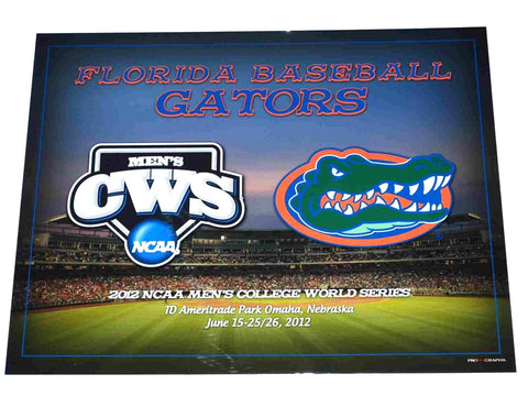 "Shop Florida Gators Baseball 2012 College World Series Ready to Frame Print 16"" X 20"""