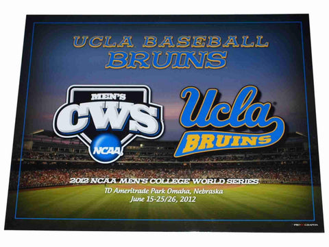 "Shop UCLA Bruins Baseball 2012 College World Series Ready to Frame Print 16"" X 20"""
