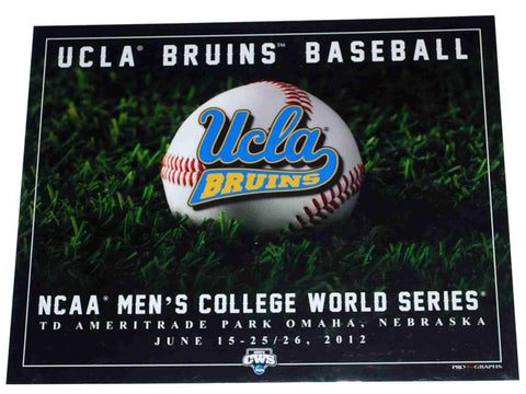 "Shop UCLA Bruins 2012 College World Series ""Turf Ball"" Ready to Frame Print 16 X 20"