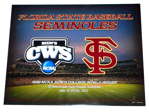 Shop Florida State Seminoles 2012 College World Series Ready to Frame Print 16X20