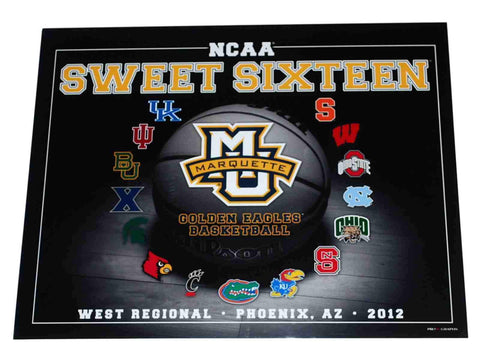 Marquette Golden Eagles Basketball 2012 Sweet Sixteen Ready to Frame Print 16X20
