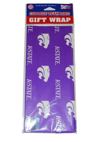 Shop Kansas State Wildcats NCAA Gift Wrapping Paper 3 Sheets (30 x 20)