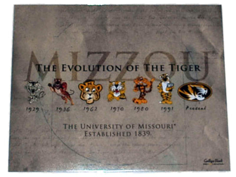 "Shop Missouri Tigers Prograph ""Tigers Evolution"" Ready to Frame Print 16"" X 20"""