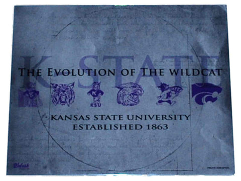 "Shop Kansas State Wildcats Prograph ""Wildcats Evolution"" Ready to Frame Print 16 X 20 - Sporting Up"