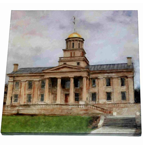 "Shop Iowa Hawkeyes Pro Graphs ""The Old Capital Building"" 20"" X 20"" Oil Painting"