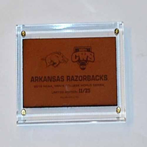 Shop Arkansas Razorbacks 2012 College World Series Limited Edition Leather Plaque