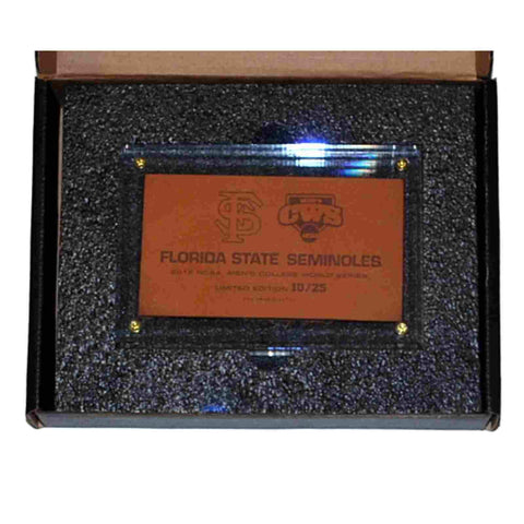 Shop Florida State Seminoles 2012 College World Series Limited Leather Clear Plaque