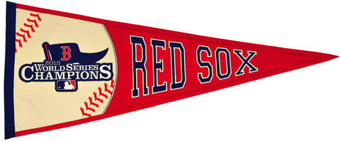 Shop Boston Red Sox 2013 World Series Embroidered Wool Red Pennant - Slight Defect
