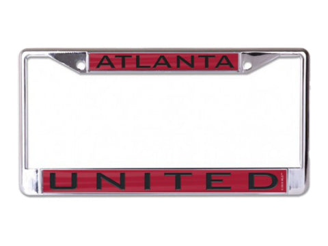 Atlanta United FC WinCraft Red Black Crystal Inlaid Metal License Plate Frame
