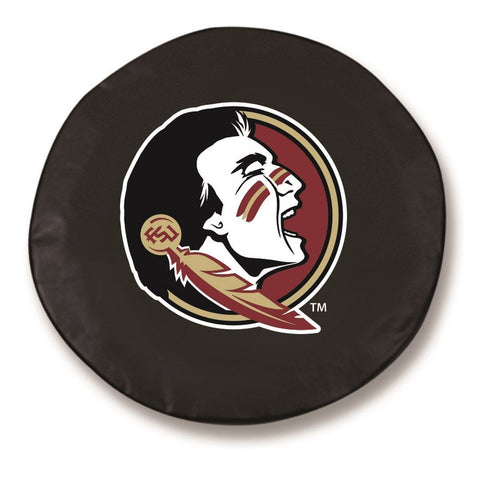 Florida State Seminoles HBS Head Black Fitted Car Tire Cover