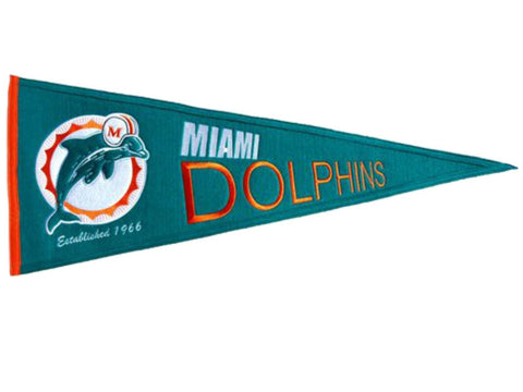 "Miami Dolphins NFL Winning Streak Throwback Pennant (12"", x 18"")"