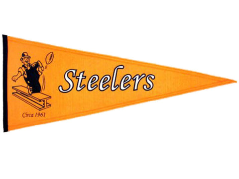 "Pittsburgh Steelers Winning Streak Throwback Pennant (32"", x 13"")"