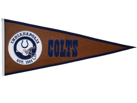 "Indianapolis Colts Pigskin Winning Streak Pennant (32"", x 13"")"