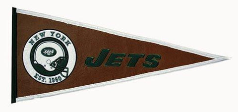 "New York Jets Pigskin Winning Streak Pennant (32"", x 13"")"