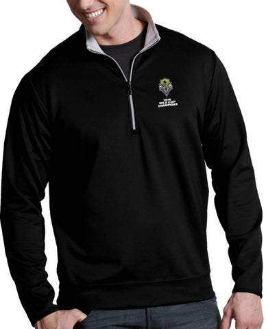 Seattle Sounders Antigua 2016 MLS Cup Champions 1/4 Zip Black Pullover Jacket