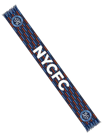 "New York City FC Ruffneck Navy Locolor HD Acrylic Knit Scarf 6.5"" x 60"""