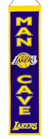 "Los Angeles Lakers Winning Streak Man Cave Wool Banner (8""x32"")"